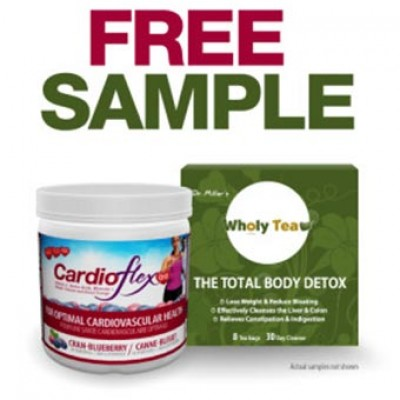 Free CardioFlex or Wholy Tea Samples