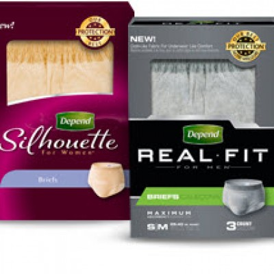 Depend Real Fit or Silhouette Underwear Free Sample!