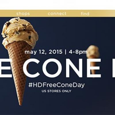 Haagen-Dazs: Free Cone Day - May 12th