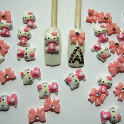 40-Piece Hello Kitty & Bows 3D Nail Art $3.98 + Free Shipping