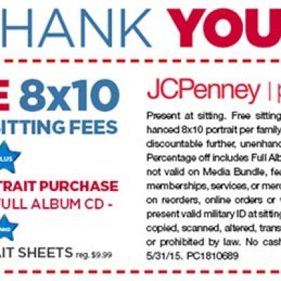JCPenney: Free 8x10 For Millitary