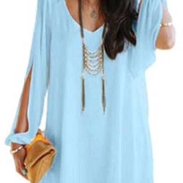 Off Shoulder V-neck Dress Just $2.99 + Free Shipping