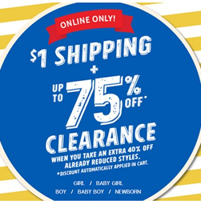 Children's Place: $1 Shipping & Up To % Off Clearance