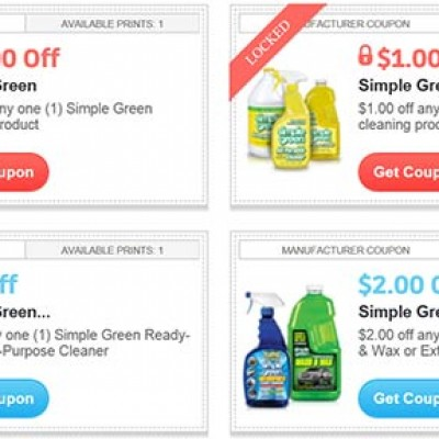 Simple Green Coupons
