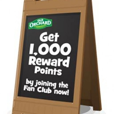 Free Old Orchard Products W/ Points