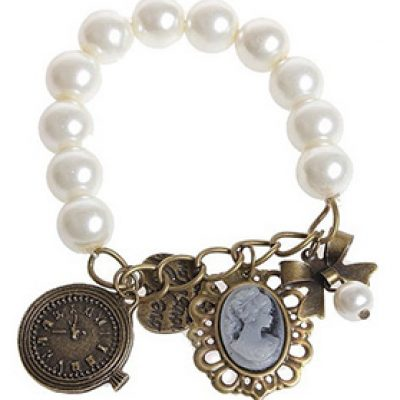 Vintage Style Pearl Bracelet With Charms Just $2.02 + Free Shipping