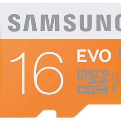 Samsung 16GB EVO Class 10 Micro SDHC Only $6.99 (Reg $14.99)
