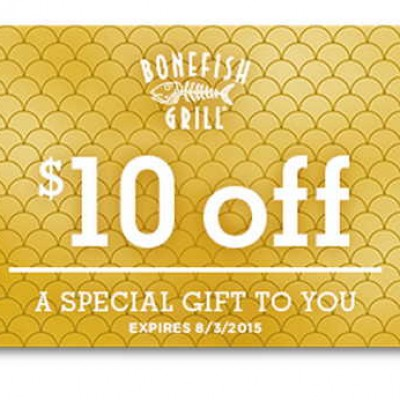 Bonefish Grill: $10 Off Until Aug 3rd