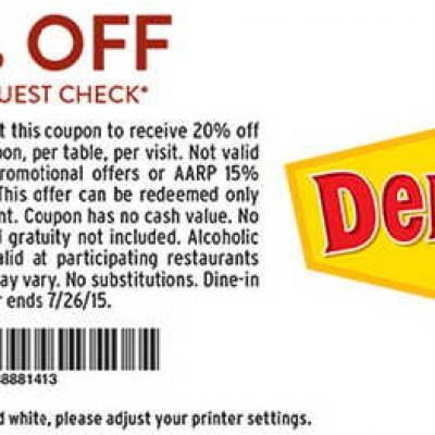 Denny's: 20% Off Entire Check