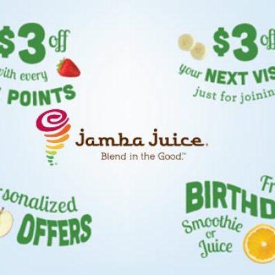 Jamba Juice Insider Rewards: $3 Off Next Visit