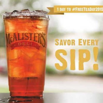 McAlister's Deli: Free Tea Day