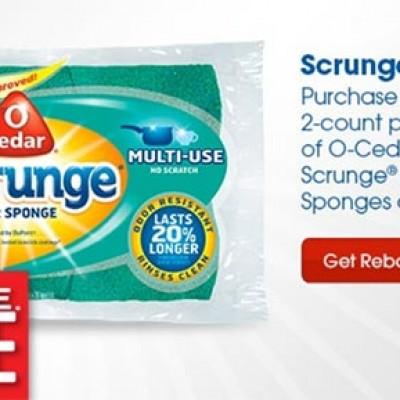 O-Cedar Sponges Free After Rebate