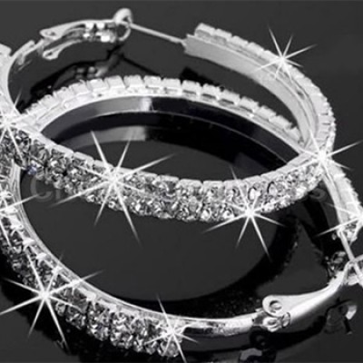 Silver Plated Womens Hoop Earrings Only $3.33 + Free Shipping