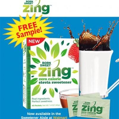 Free Zing Stevia Sweetener Samples