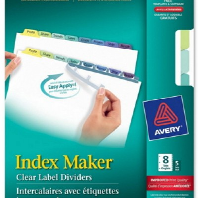 Free Avery Index Maker Dividers