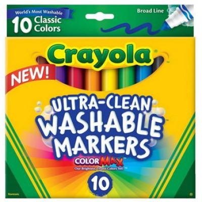 Crayola Washable Markers (10 Count) Just $1.97 (Reg $7.99)
