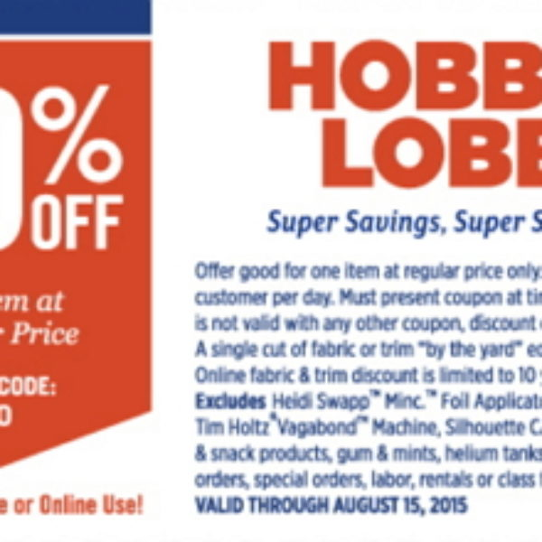 Hobby Lobby: 40% Off One Item