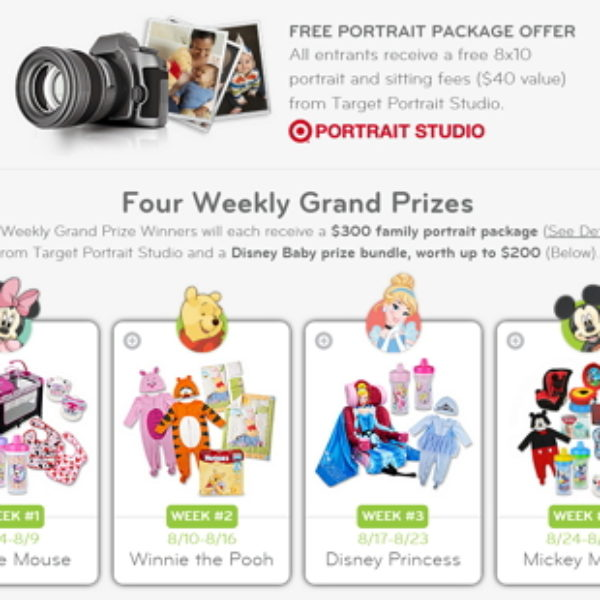 Target: Free 8x10 Portrait & Sitting Fees