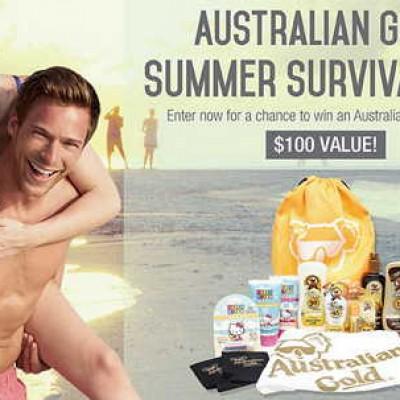 Win an Australian Gold Summer Survival Pack