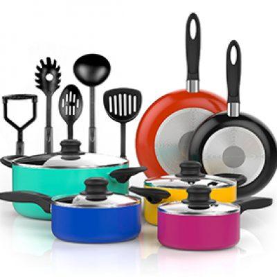 Vremi 15-Piece Nonstick Cookware Set Just $44.99 (Reg $90)