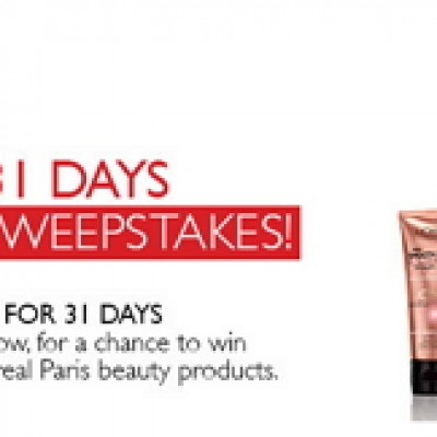 L'Oreal 31 Days of Beauty Sweepstakes