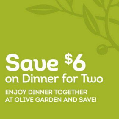 Olive Garden: $6 Off Dinner For Two