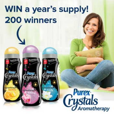 Win a Year's Supply of Purex Crystals Aromatherapy