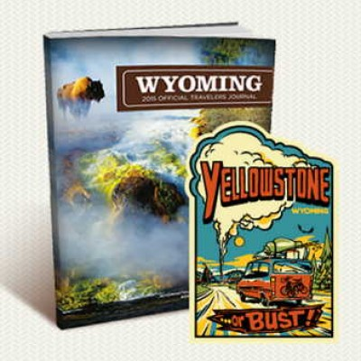 Free Wyoming sticker & Travel Guide