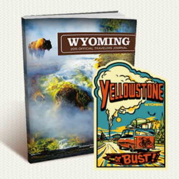 Free Wyoming sticker & Travel Guide