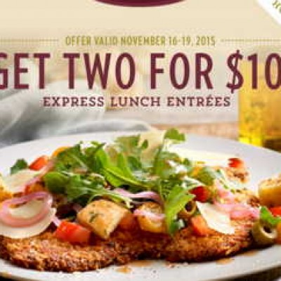 Romano's Macaroni Grill: 2 For $10 Express Lunch Entrees