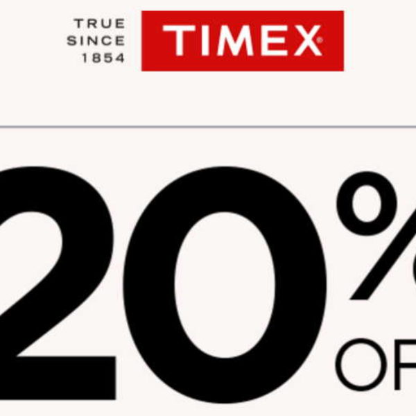 Timex: 20% Off Coupon Code