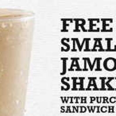 Arby's: Free Small Jamocha Shake W/ Purchase