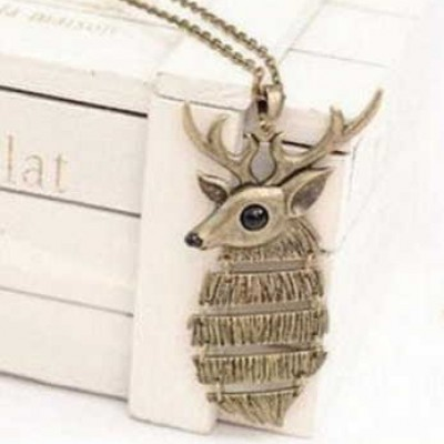 Brass Deer Pendant and Necklace Only $5.69 + Prime