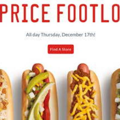 Sonic: 1/2 Price Footlongs All Day Today
