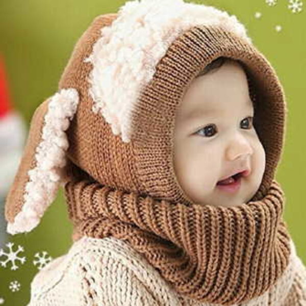Baby Hat W/ Ears & Scarf Only $6.59 + Free Shipping