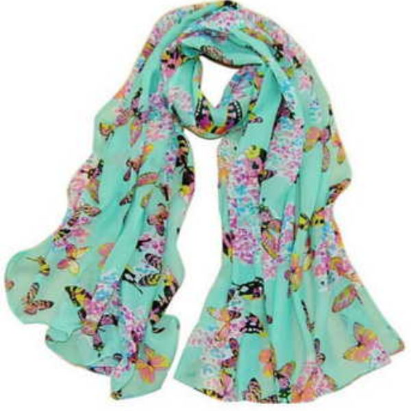Butterfly Print Chic Scarf Only $3.99 + Free Shipping