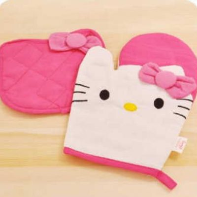 Hello Kitty Oven Mitt & Pot Holder Set Only $5.45 + Free Shipping