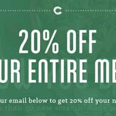 Carraba's Coupon: 20% Off Entire Meal