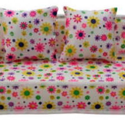 Flower Print Doll Sofa W/ Cushions Only $2.30 + Free Shipping