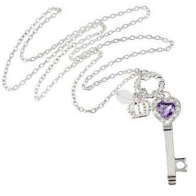 Heart Key Pendant & Necklace Just $4.59 + Free Shipping