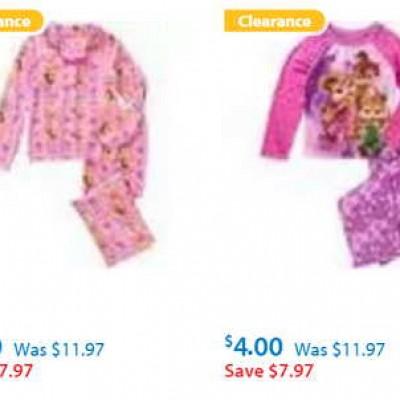 Girls Pajamas Sale @ Walmart As Low As $4.00