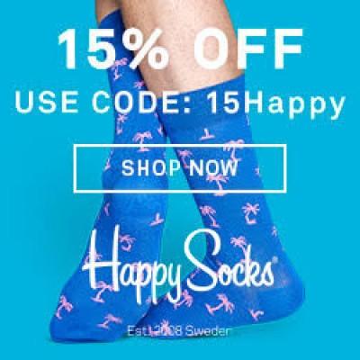 Happy Socks: 15% Off