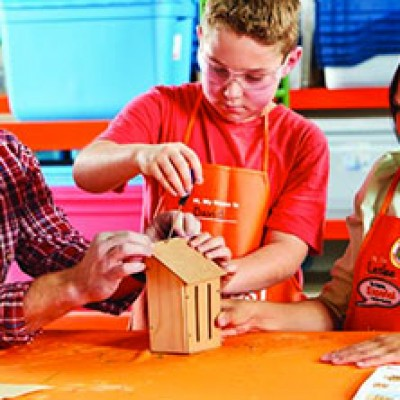 Home Depot Kid's Workshop: Free Butterfly House