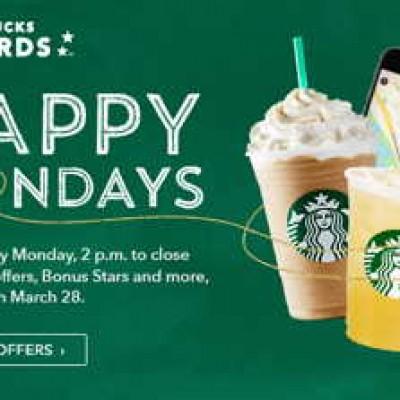My Starbucks Rewards Members: Happy Mondays