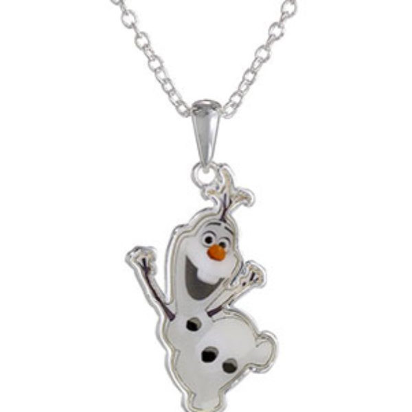 "Disney ""Frozen"" Silver-Plated Olaf Pendant & Necklace Just $6.78 (Reg $21.99) + Prime"