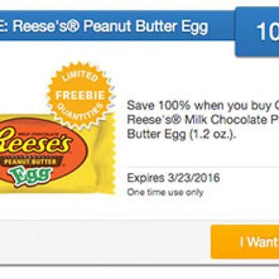 SavingStar Freebie: Free Reese's Peanut Butter Egg W/ Coupon