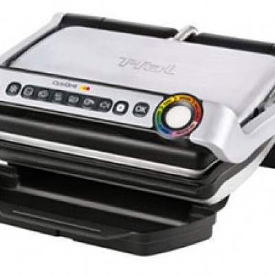 T-fal OptiGrill Stainless Steel Indoor Electric Grill On Sale $126.49 (Reg $249.99) + Prime