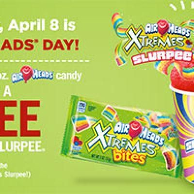 7-Eleven: Free Small Slurpee w/ Any 2oz Airheads Purchase