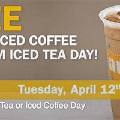 Au Bon Cafes: Free Medium Iced Coffee or Tea - April 12th