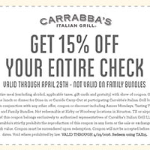 carrabbas italian grill store coupons